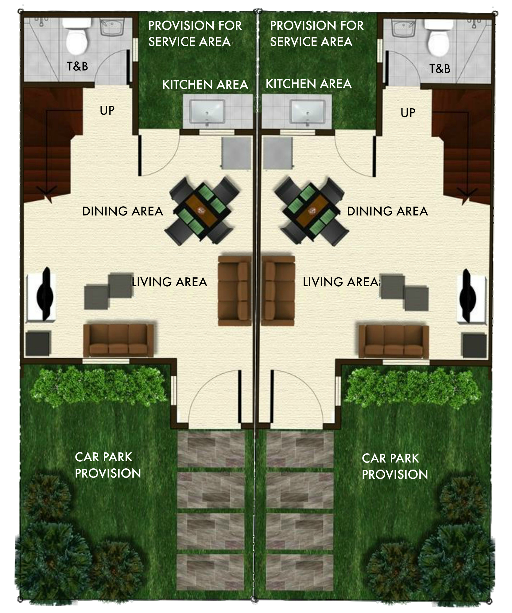 bria homes angeli duplex ground floor plan